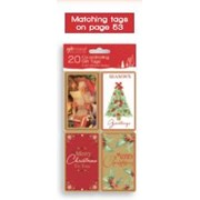 Giftmaker Self Adhesive Elegant Traditions Tags 20s (XAGGT1030)