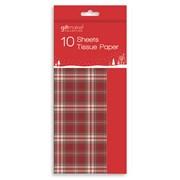 Giftmaker Tartan Red Tissue Paper 10s (XAHGA102)