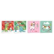 Giftmaker Novelty Characters Mini Sq Cards Asstd 20s (XAJGC503)