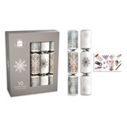 "Giftmaker Crackers Silver & White 10x14"" (XAJGS402)"