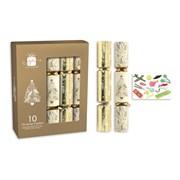 "Giftmaker Crackers Cream & Gold 10x12"" (XAJGS504)"