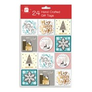 Giftmaker Gift Tags Contemp Handcrafted 24s (XAJGT203)