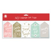 Giftmaker Gift Tags Contemp Luggage Style 40s (XAJGT204)
