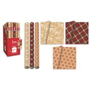 Contemporary Christmas Roll Wrap 5m (XAHGW104)