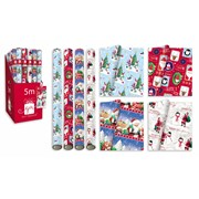 Santa & Friends Roll Wrap 5mt (XAJGW106)