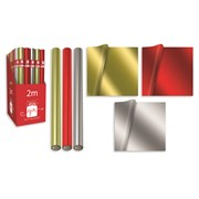 Mixed Plain Foil Roll Wrap 2mt (XAJGW115)