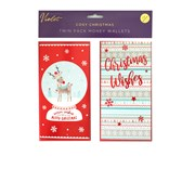 Violet Cosy Christmas Money Wallets 2s (XBV-1-MW)