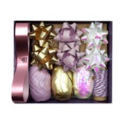 Violet Winter Wonderland Bow & Ribbon Set (XBV-17-BOW)