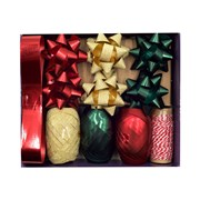 Violet Classic Christmas Bow & Ribbon Set (XBV-25-BOW)