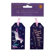 Violet Believe In Christmas 12 Tags (XBV-4-12GT)