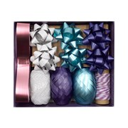 Violet Believe In Christmas Bow & Ribbon Set (XBV-4-BOW)