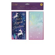 Violet Believe In Christmas Money Wallets 2s (XBV-4-MW)