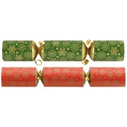 Red & Green Snowflake Catering Crackers 100s (XIGDC8003)
