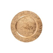 Charger Plate Embossed Gold (XM4496)