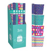 Giftmaker Brights Mix Gift Wrap 3mt (YAKGW20F)