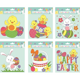 Easter Gel Window Stickers Asst (22320-WS)