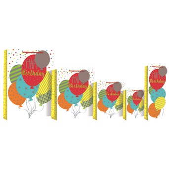 Balloons Gift Bag Bottle (24630-4)