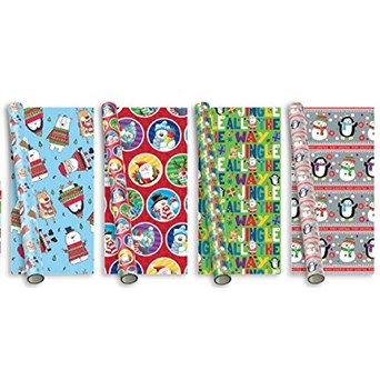 Santa & Friends Roll Wrap 5m (XAHGW106)