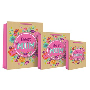 Best Mum Kraft Bag Med (16836-3)