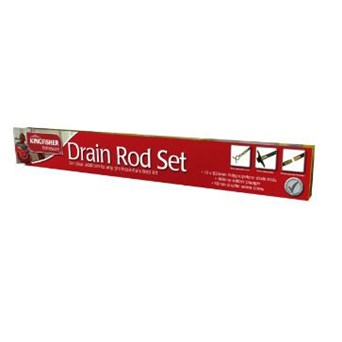 Kingfisher 12 Piece Drain Rod Set (DR12P)