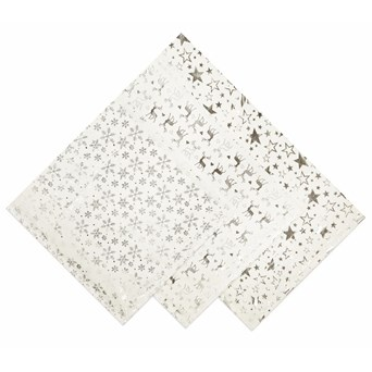 Star Snowflake Reindeer Tablecloth 90x90c (PL165964SW)
