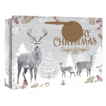 Deer Family Shopper Gift Bag X/lge (X-25068-14)