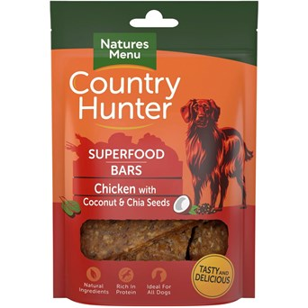 natures:menu Superfood Bar Chicken With Coconut & Chia Seeds 100g (CHTCC)