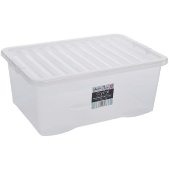 Wham Crystal Box  & Lid Clear 45ltr (Z10870)