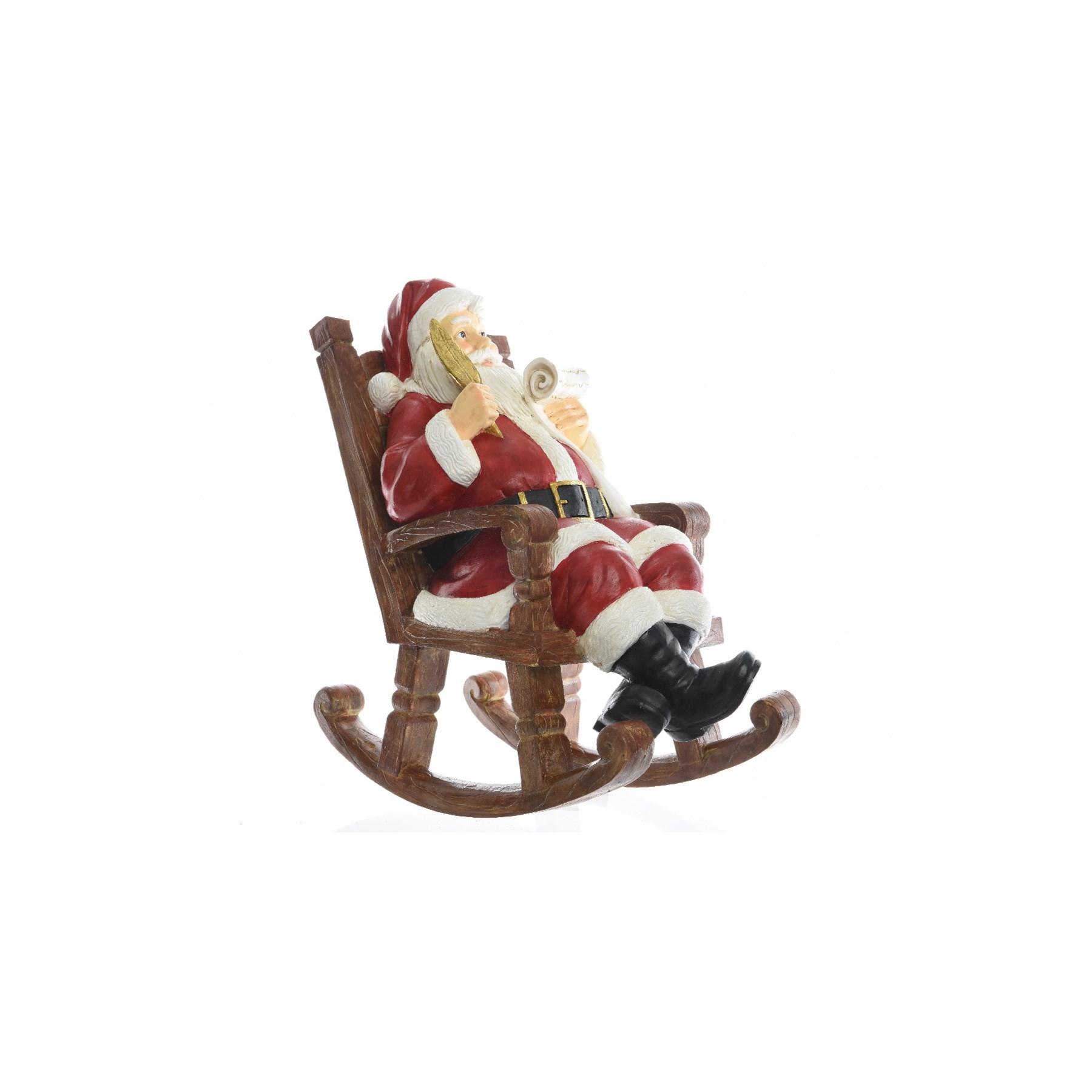 kaemingk poly santa in rocking chair 535307