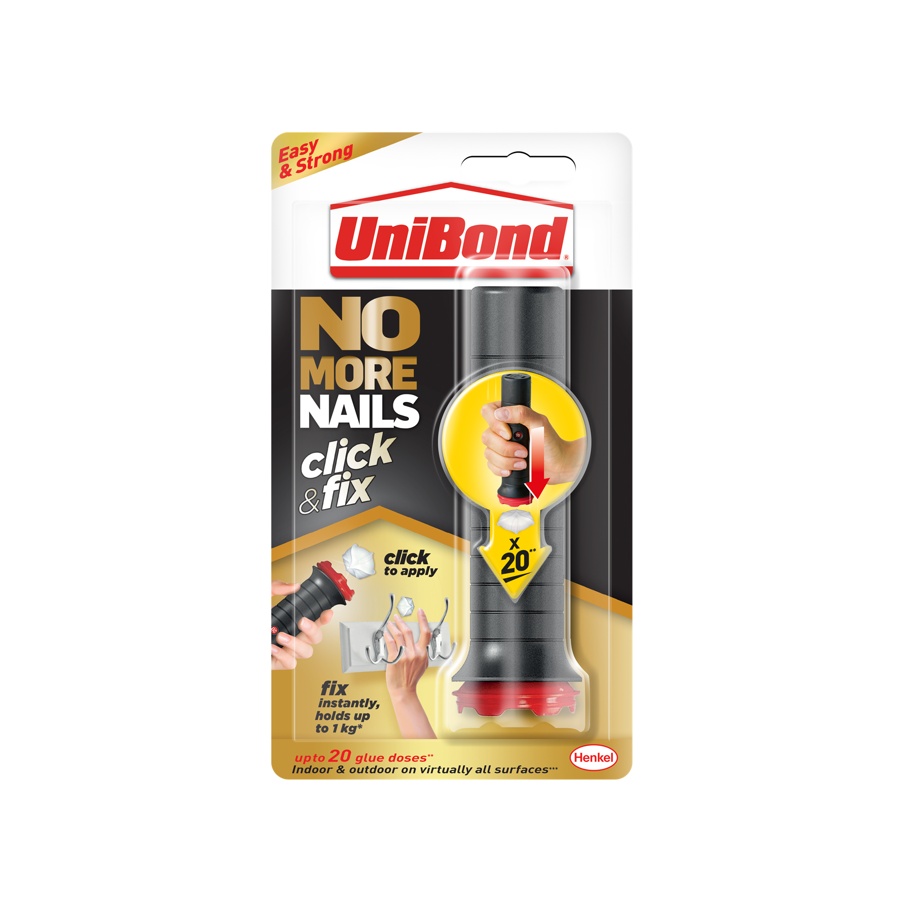 Unibond No More Nails Click & Fix 20 Dose (2312989)